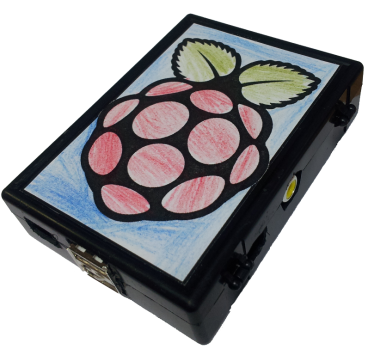 My home made Pi-Case (as featured in the MagPi Issue 3 Meeting Pi - Image links directly to article on Issuu)