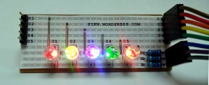 Our very colourful RGB-LED Rainbow!