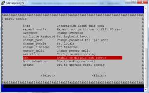 Enable/Disable SSH via Raspi-config