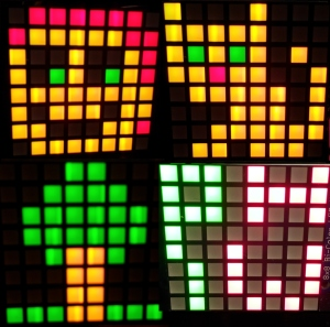 Create a range of designs and animations with the LEDs