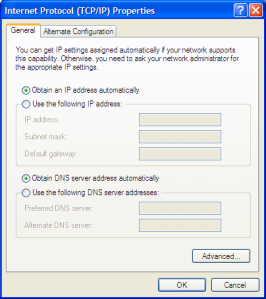 Wired Network Adaptor is configured as Automatic