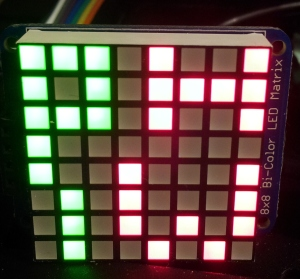 Adafruit's 8x8 Bi-Colour LED Backpack
