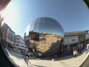 Image from RPiSpy's blog about alternative lenses for the Raspberry Pi - click on image to see it (showing @Bristol's rather iconic Planetarium)